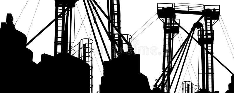 De structuur van de fabriek stock illustratie