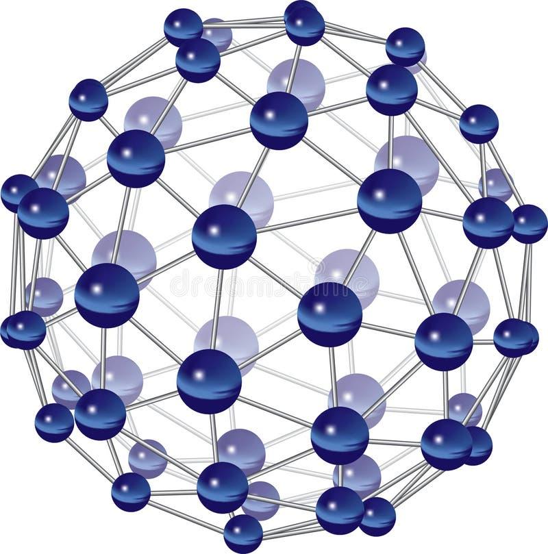 De Structuur van de molecule royalty-vrije illustratie