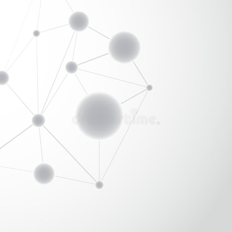 De structuur van het achtergrond moleculeatoom malplaatje royalty-vrije illustratie