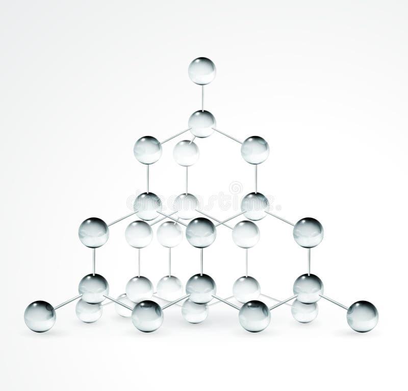 De structuur van het kristal royalty-vrije illustratie