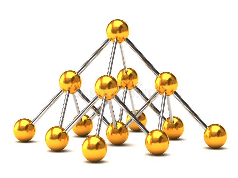 De structuur van het netwerk stock illustratie