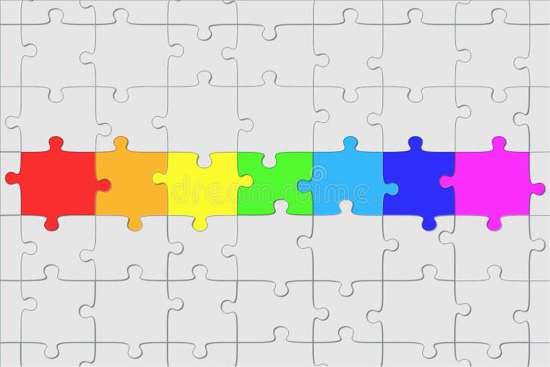 De structuur van het raadsel vector illustratie