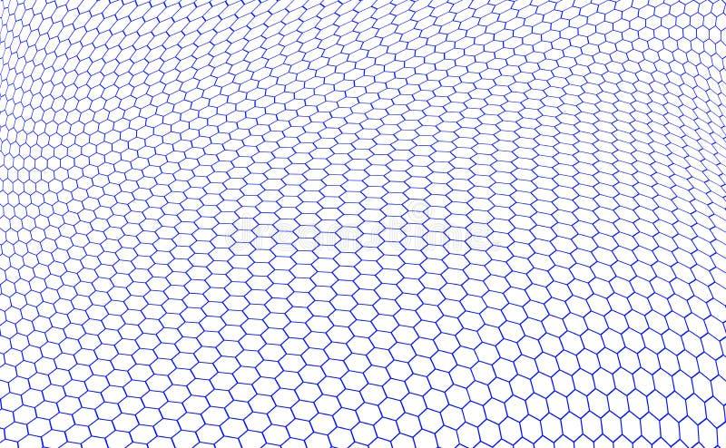 De structuur van zeshoeken graphene stock afbeelding