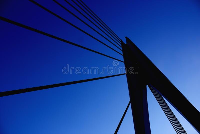 De structuursilhouet van de brugpijler royalty-vrije stock foto