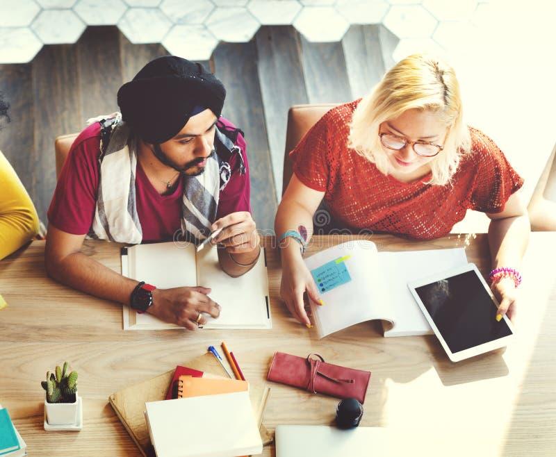 De Student Relationship Team Concept van de collega'sverbinding stock foto's