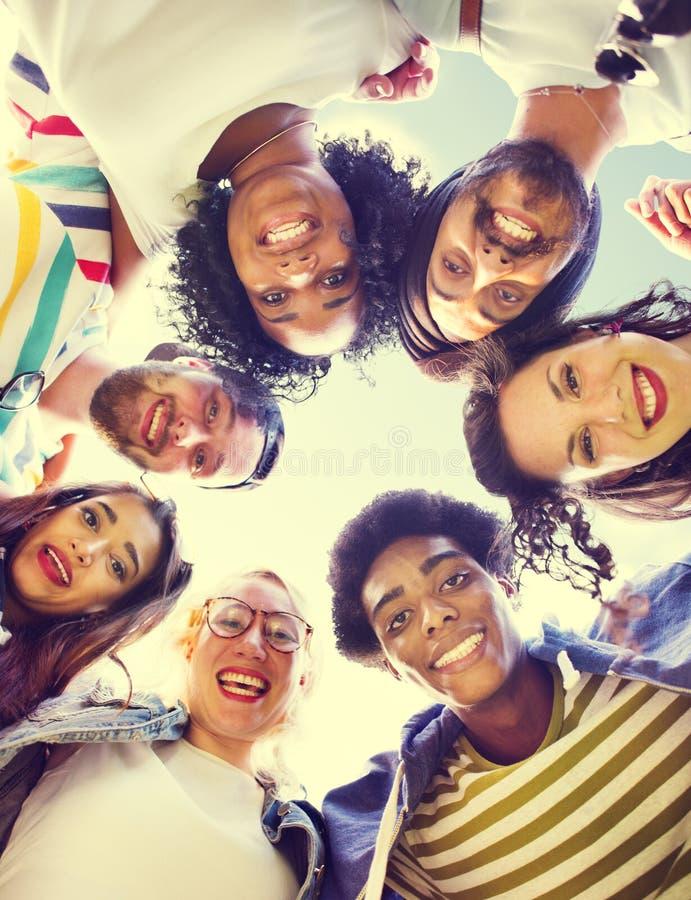 De Student Relationship Team Concept van de collega'sverbinding stock afbeeldingen