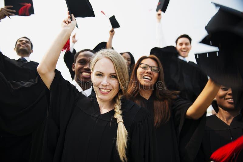 De Student School College Concept van de graduatievoltooiing royalty-vrije stock foto's
