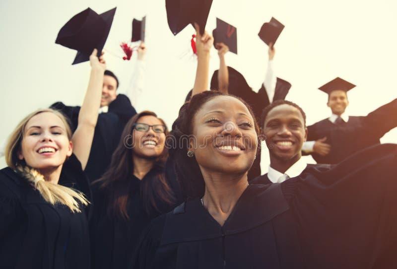De Student School College Concept van de graduatievoltooiing royalty-vrije stock afbeeldingen