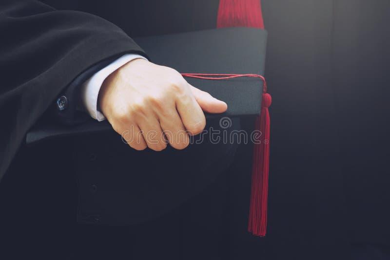 De studenten behalen bij Universiteit een diploma om nationaal en sociaal aanvaardbaar te zijn royalty-vrije stock foto's