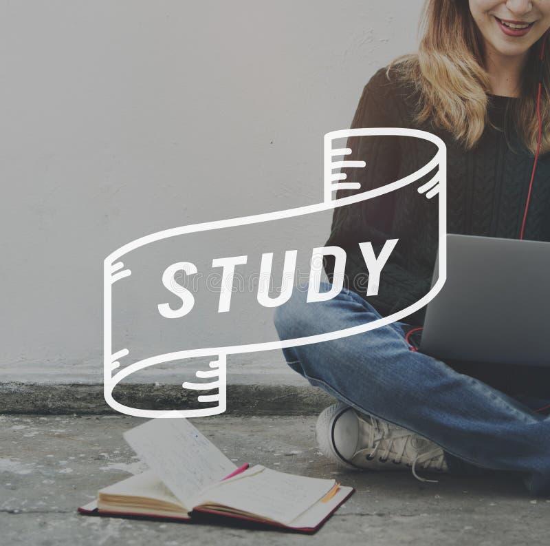 De studenten bestuderen Hard universitair Schoolconcept stock foto