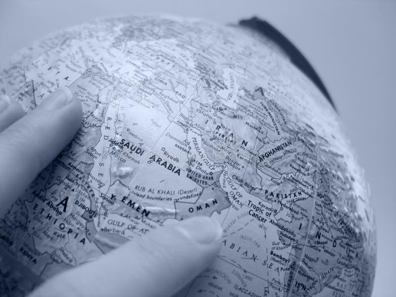 De Studie van de aarde: Het Midden-Oosten royalty-vrije stock afbeelding