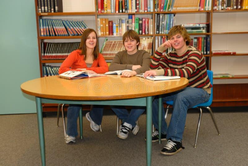 De Studiegroep van de tiener royalty-vrije stock afbeeldingen