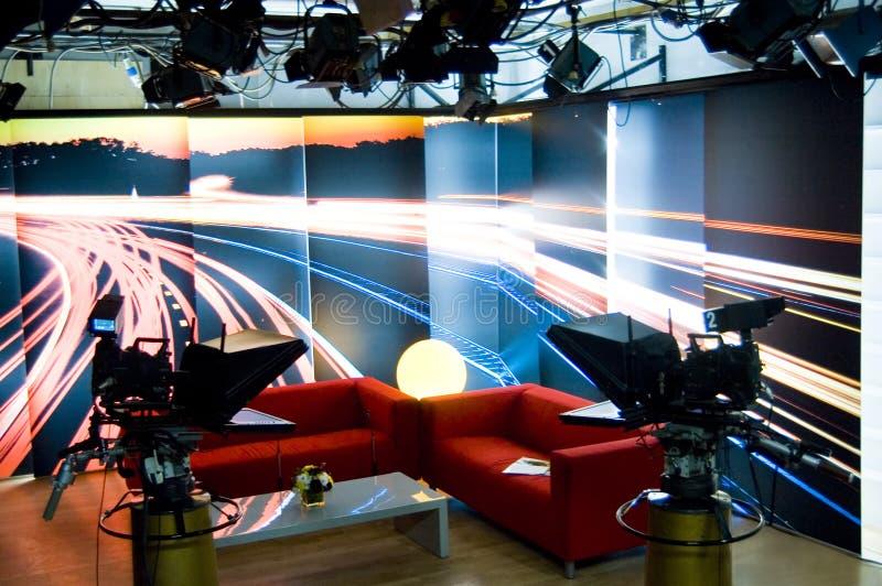 De studio en de lichten van TV royalty-vrije stock fotografie