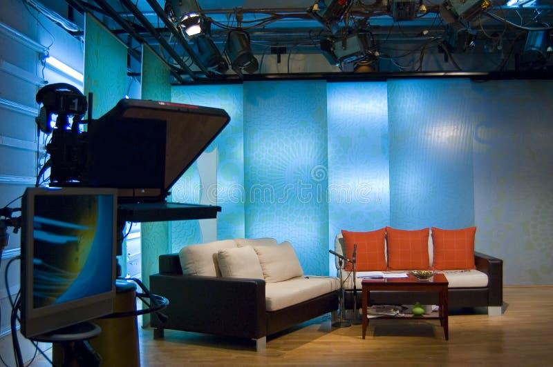 De studio en de lichten van TV