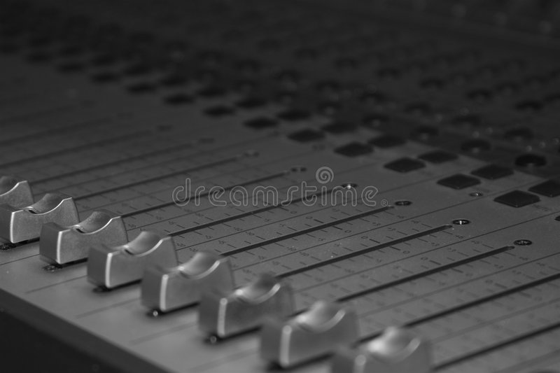 De Studio Soundboard van de opname stock afbeelding