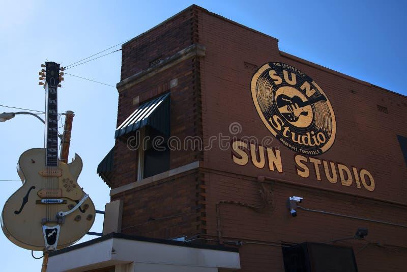 De Studio van het zonverslag door rockpionier Sam Phillips wordt geopend in Memphis Tennessee de V.S. die royalty-vrije stock fotografie