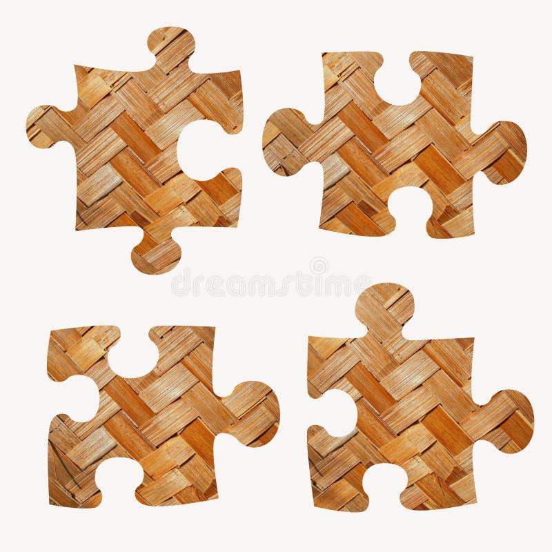 De stukken van de figuurzaag vector illustratie
