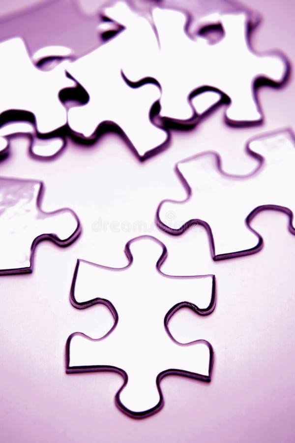 De stukken van de puzzel stock foto