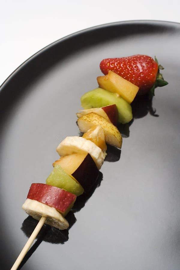 De stukken van het fruit stock foto's