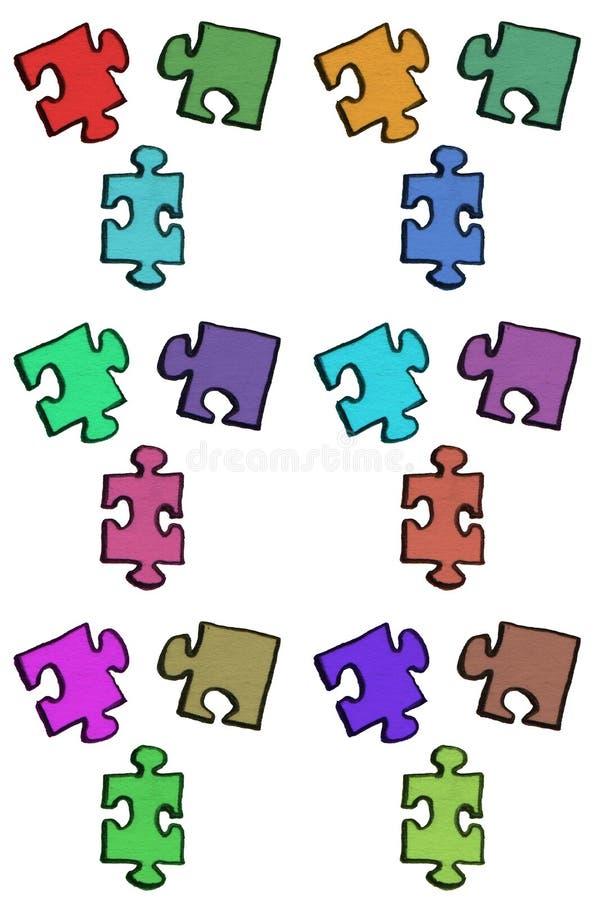 De stukken van het raadsel stock afbeelding