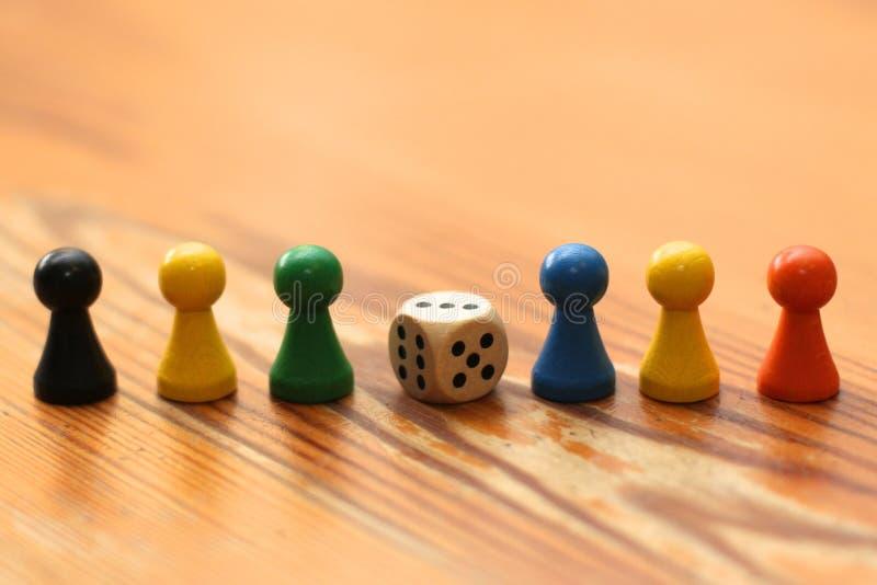 De Stukken van het Spel van de raad stock afbeeldingen