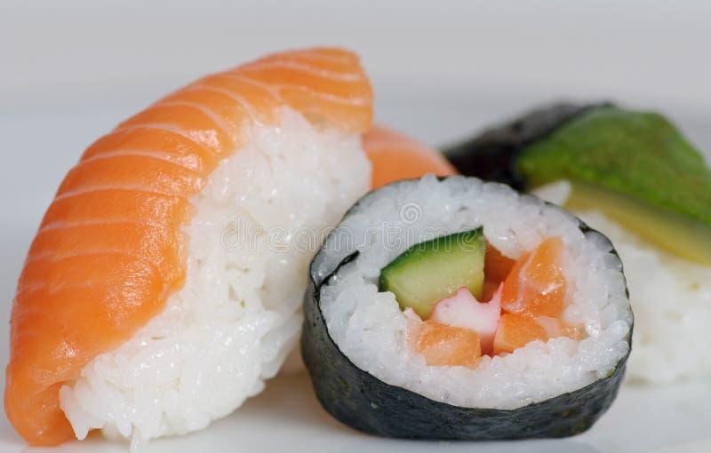De stukken van sushi stock foto
