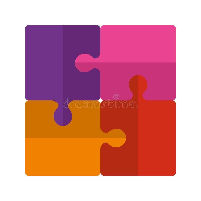 De stukkenpictogrammen van het raadselspel stock illustratie