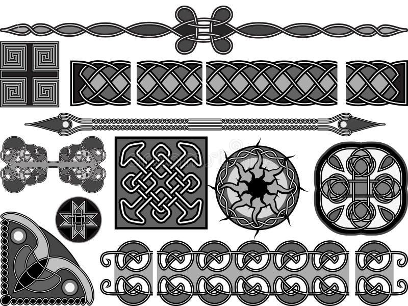 De style celtique médiéval illustration stock