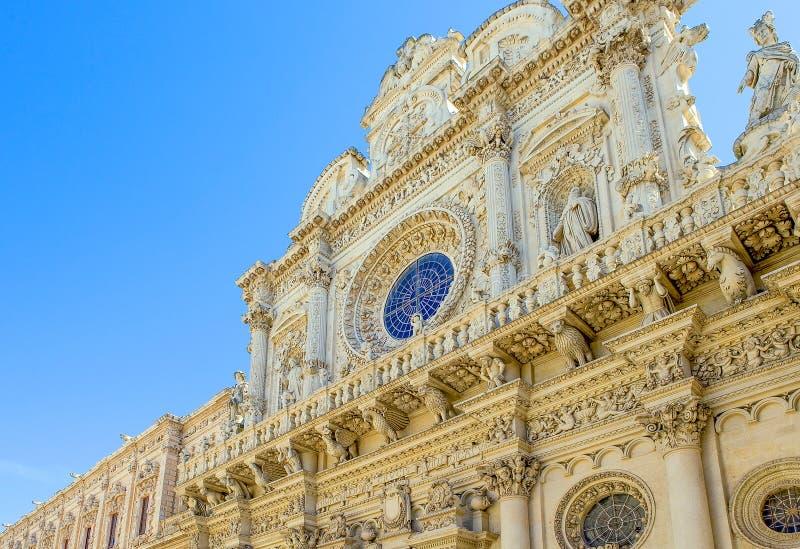 De sublieme kunst van de steen van Lecce stock foto