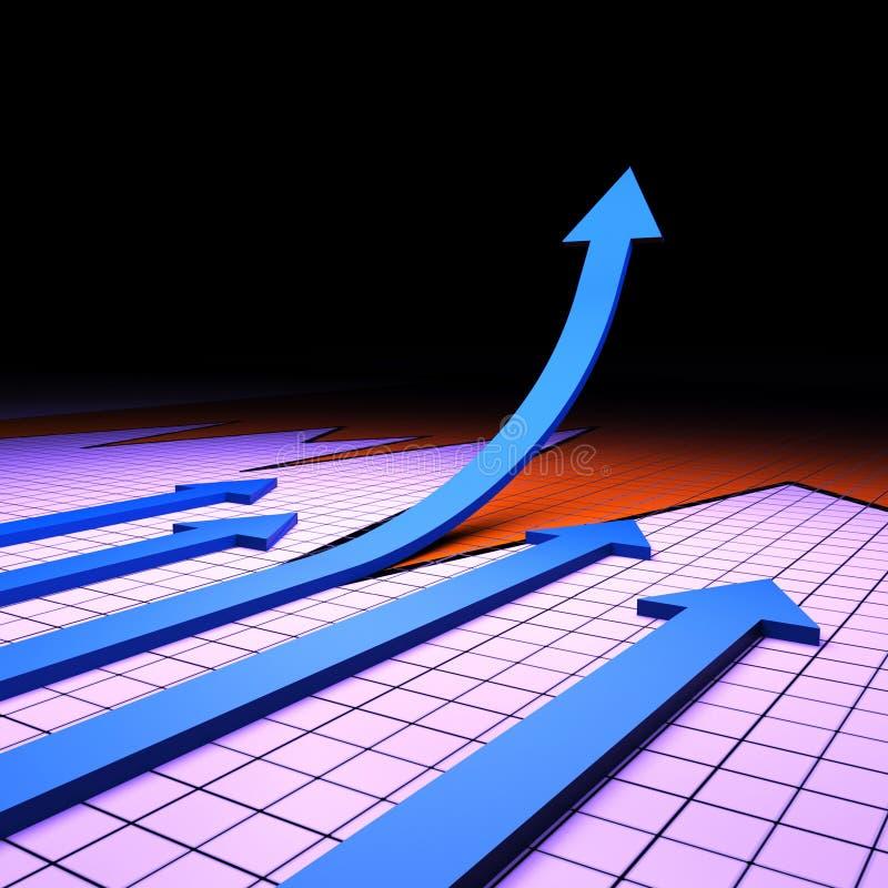 De succesgrafiek vertegenwoordigt Financieel verslag en Analyse vector illustratie