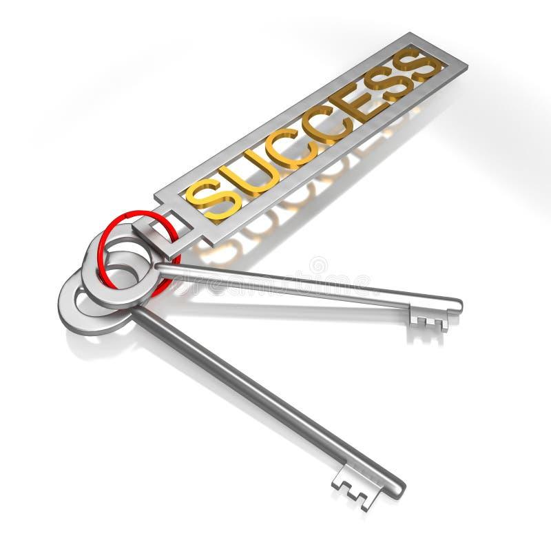 De successleutels toont Victory Achievement Or Successful royalty-vrije stock fotografie