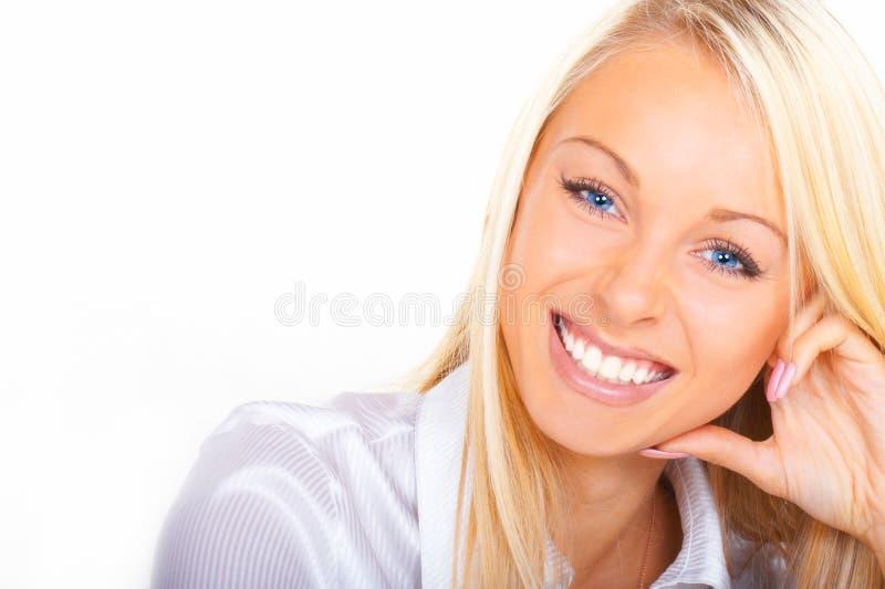 De succesvolle bedrijfsvrouw stock foto's