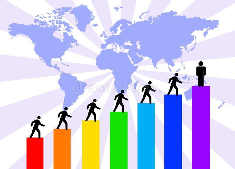 De succesvolle groei vector illustratie