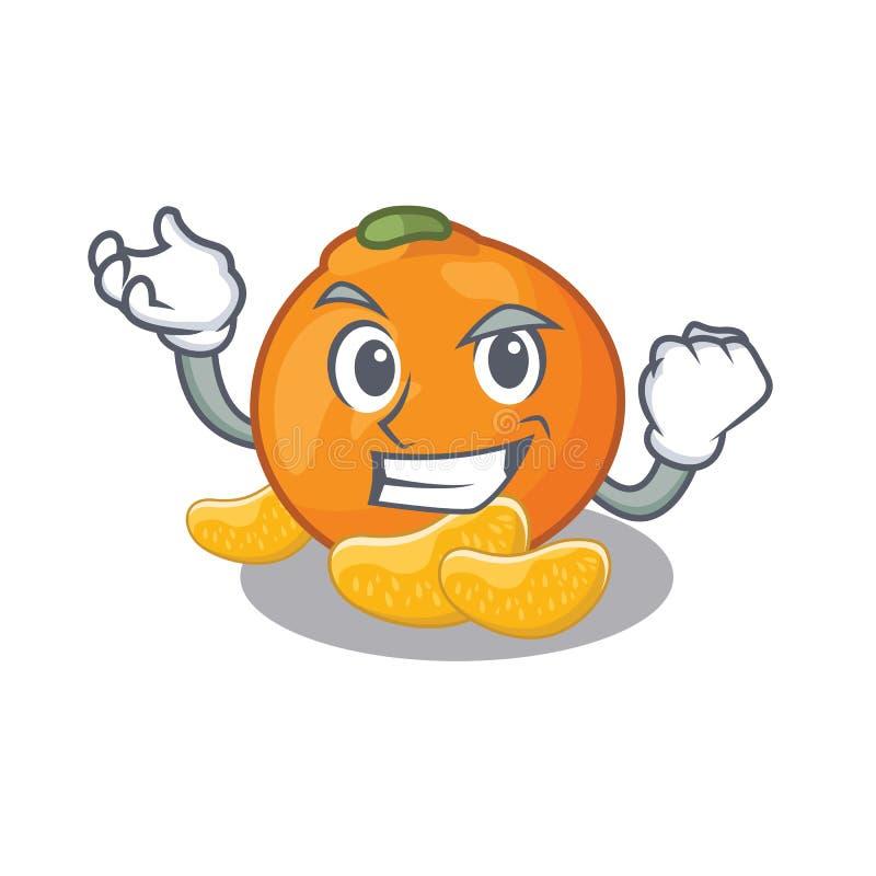 De succesvolle mandarijn wordt opgeslagen in beeldverhaalijskast royalty-vrije illustratie