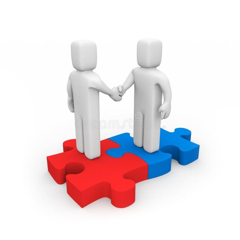 De succesvolle overeenkomst vector illustratie