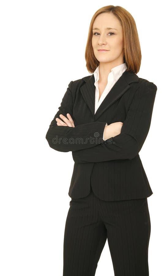 De succesvolle Status Bedrijfs van de Vrouw stock foto