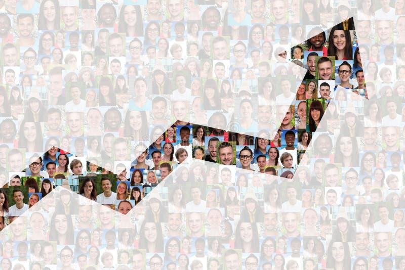 De succeszaken verbeteren de succesvolle mensen van de de groeistrategie royalty-vrije stock foto
