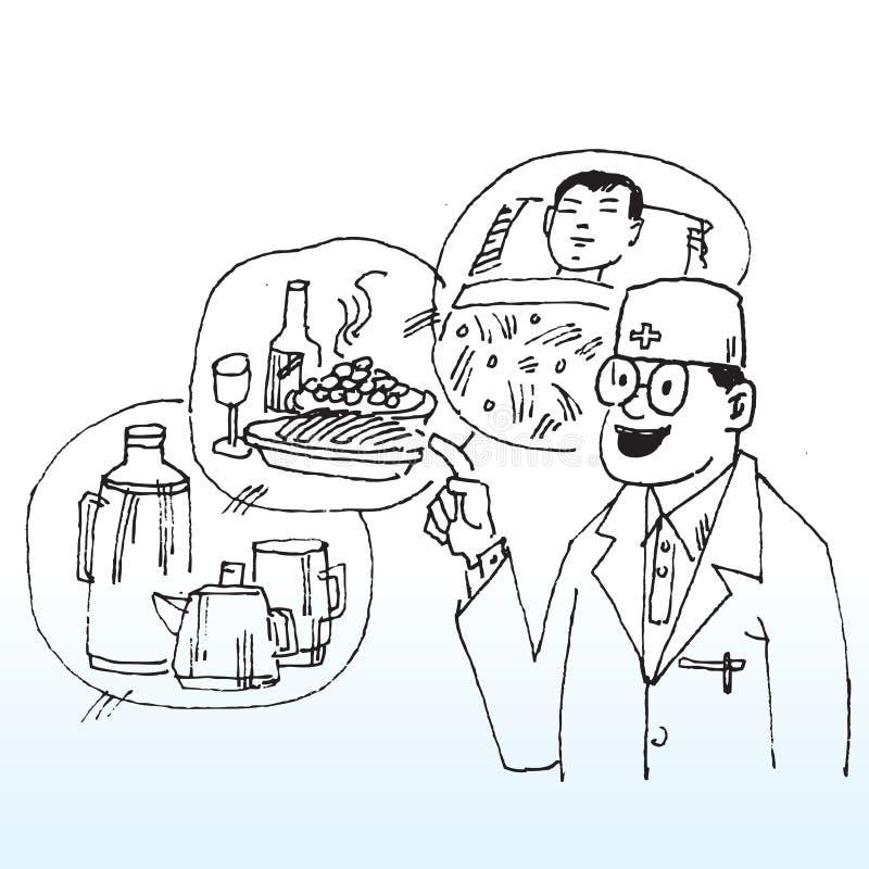 De suggesties van artsen stock illustratie