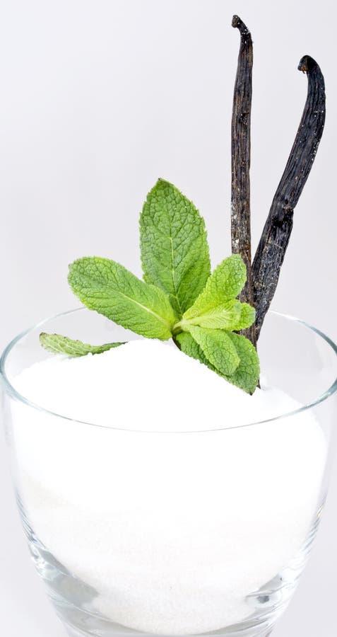De suiker van de vanille royalty-vrije stock afbeeldingen