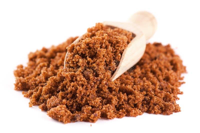 De suiker van Muscovado stock afbeeldingen
