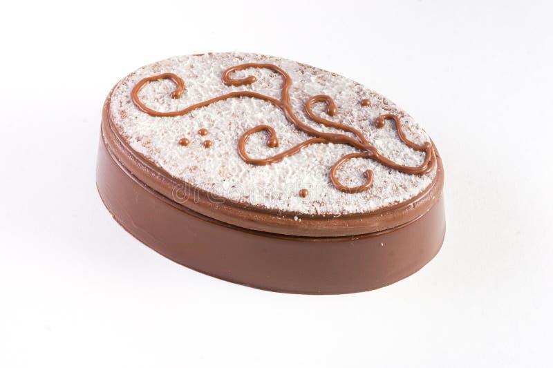 De suiker verfraaide ovale chocoladedoos royalty-vrije stock foto