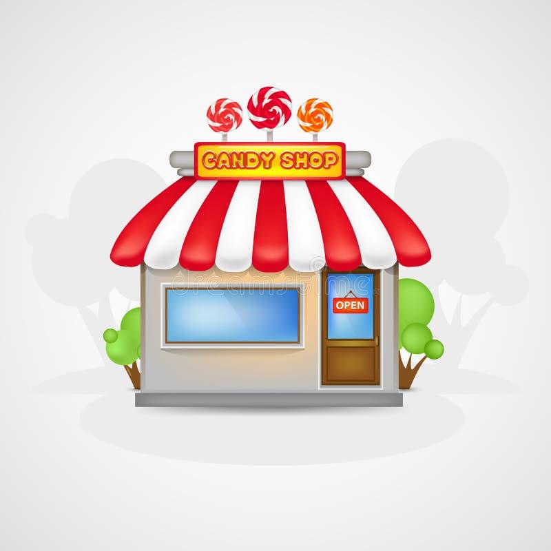 De Suikergoedwinkel royalty-vrije illustratie