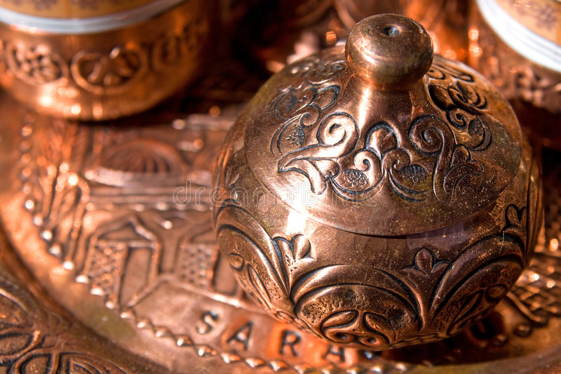 De suikerpot van de koffie royalty-vrije stock fotografie