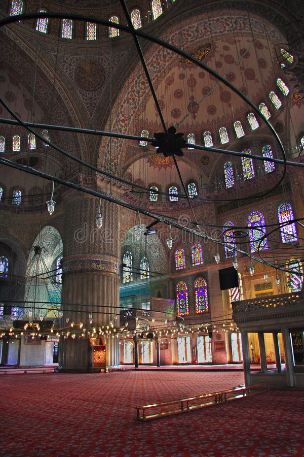 De sultan Ahmed Mosque - Blauwe Moskee van Istanboel stock afbeelding