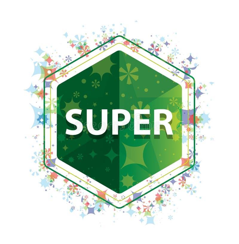 De super bloemen groene hexagon knoop van het installatiespatroon vector illustratie