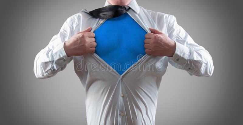 Super zakenman royalty-vrije stock foto