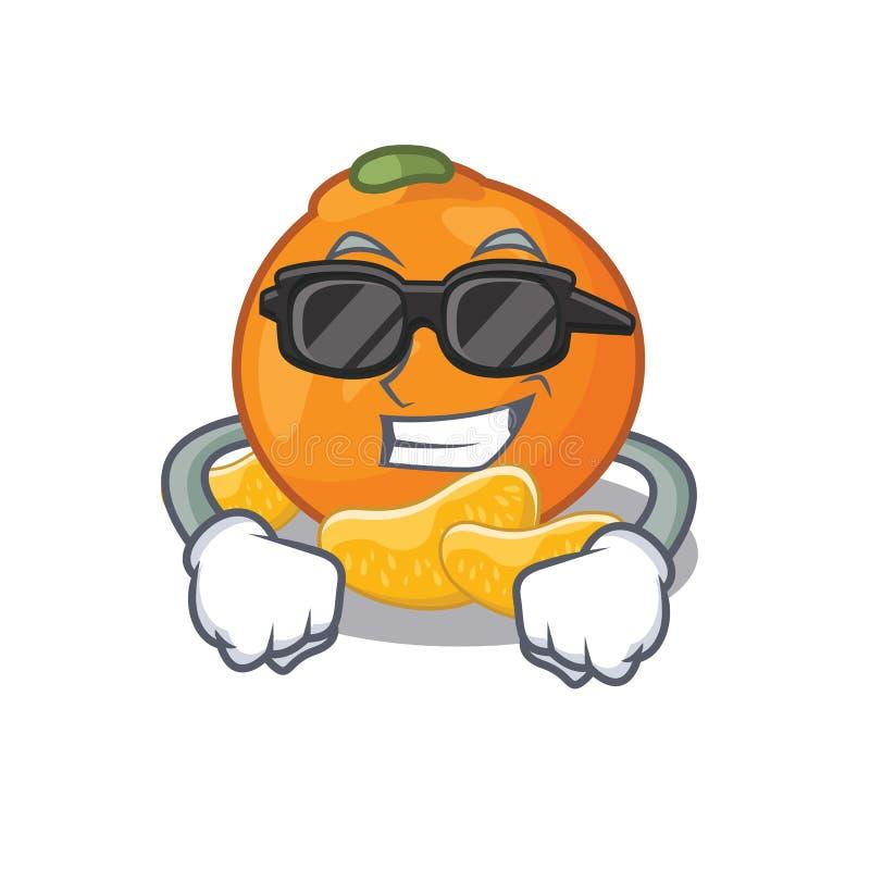 De super koele mandarijn wordt opgeslagen in beeldverhaalijskast vector illustratie