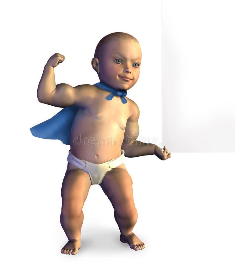 De super Opheffende Rand van de Baby van Leeg Teken - met het knippen van weg stock illustratie