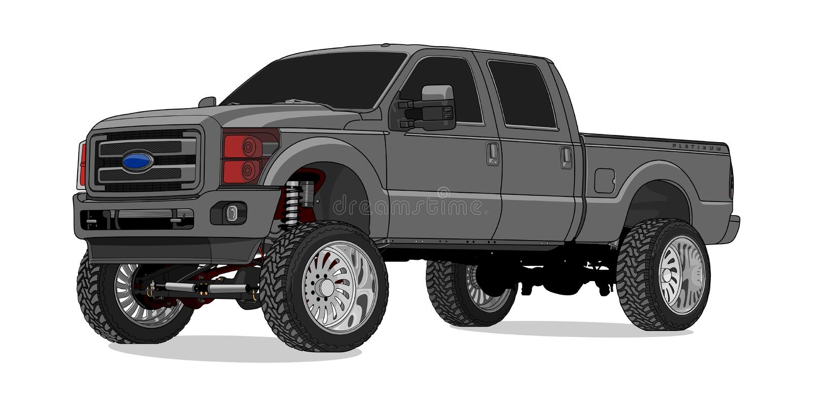 De Super Plicht van Ford F250 in Vector royalty-vrije illustratie