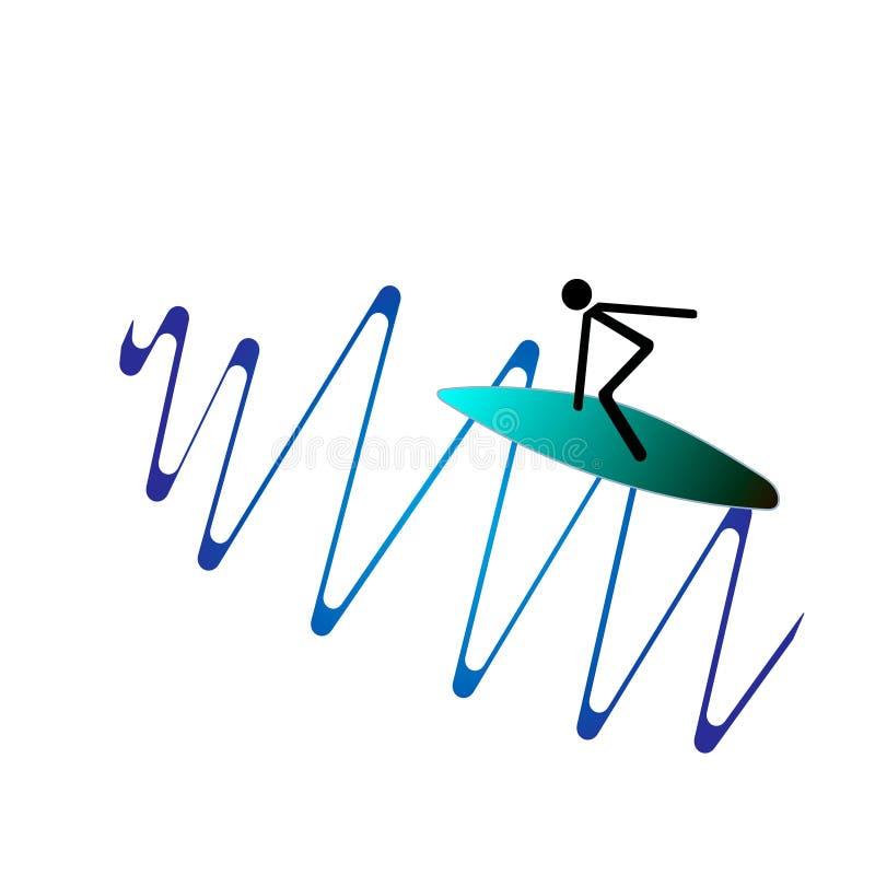 De Surfer royalty-vrije stock afbeeldingen